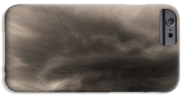 Nebraska iPhone Cases - The Odell Supercell- Black and White iPhone Case by Chris  Allington