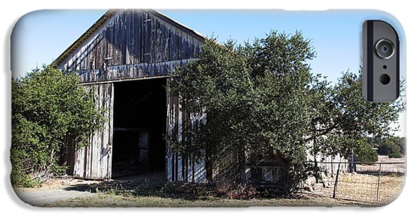 Old Barns iPhone Cases - The Old Barn - 5D19194 iPhone Case by Wingsdomain Art and Photography