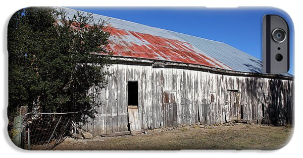 Old Barns iPhone Cases - The Old Barn - 5D19196 iPhone Case by Wingsdomain Art and Photography