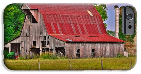 Tennessee Barn iPhone Cases - The Old Barn iPhone Case by Charles Dobbs