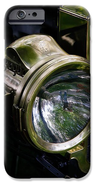 The Old Brass Ford Headlight iPhone Case by Steve McKinzie