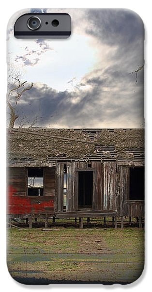 The Old Farm House In My Dreams iPhone Case by Wingsdomain Art and Photography