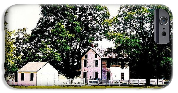 Old Barn Drawing iPhone Cases - The Old Homestead In Pen And Ink iPhone Case by Annie Zeno