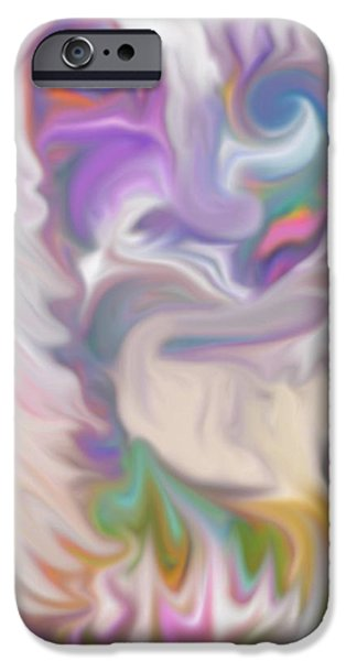 The Old Man Abstract iPhone Case by Gina Lee Manley
