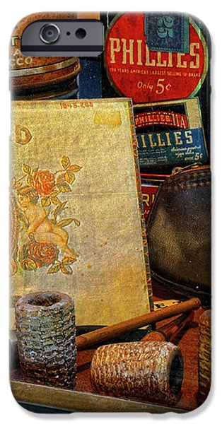 The Old Smoke Shop iPhone Case by Dave Mills