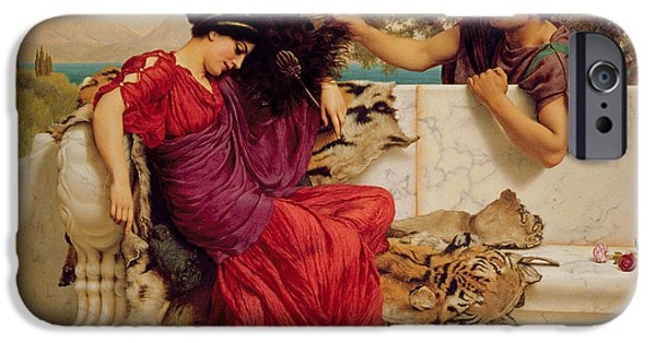 The Tiger iPhone Cases - The Old Story iPhone Case by John William Godward