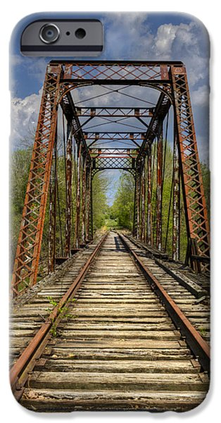Caboose Photographs iPhone Cases - The Old Trestle iPhone Case by Debra and Dave Vanderlaan