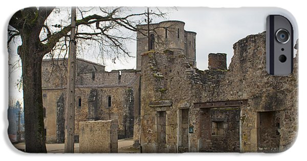 Genocides iPhone Cases - The once grand town of Oradour iPhone Case by Nomad Art And  Design