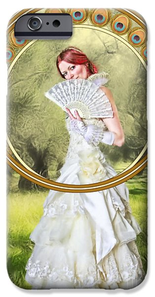 Painter Digital Art iPhone Cases - The Orchard iPhone Case by John Edwards