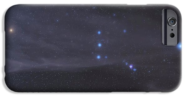 Constellations iPhone Cases - The Orion Constellation Rises iPhone Case by John Davis