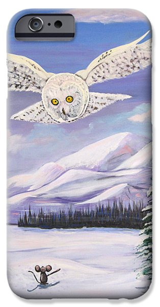 The Owl and the Rat iPhone Case by Phyllis Kaltenbach