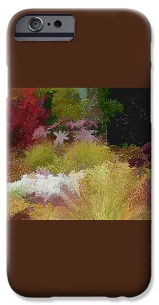 the painted garden iPhone Case by Tom Prendergast