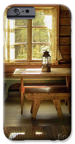 Log Cabin Interiors iPhone Cases - The Parlour iPhone Case by Heiko Koehrer-Wagner