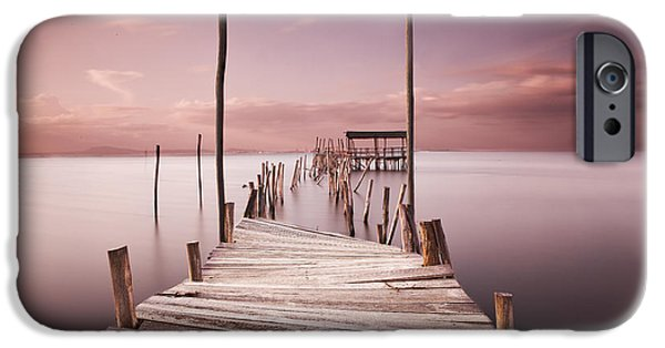 Pier iPhone Cases - The passage to brightness iPhone Case by Jorge Maia