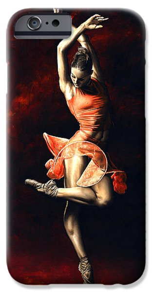 Sports Paintings iPhone Cases - The Passion of Dance iPhone Case by Richard Young