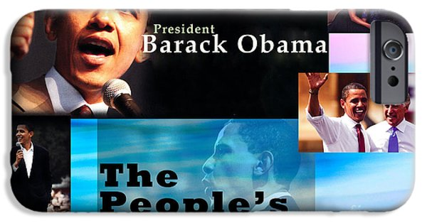 Michelle Obama Photographs iPhone Cases - The Peoples President iPhone Case by Terry Wallace