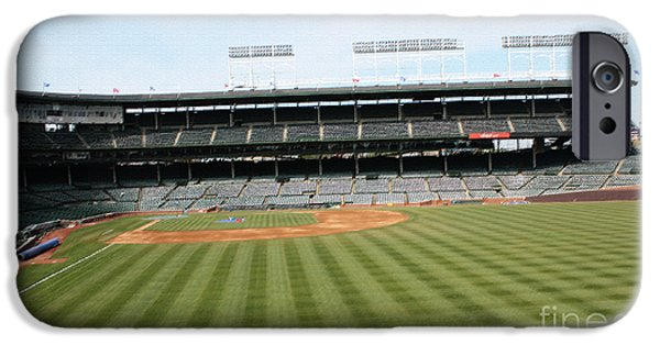 Wrigley Field iPhone Cases - The Perfect Manicure iPhone Case by David Bearden