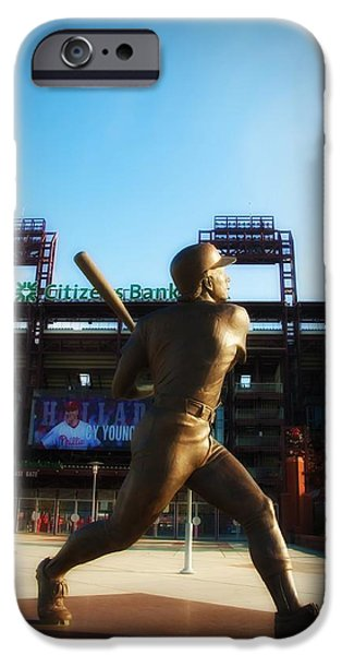 Baseball Stadiums Digital Art iPhone Cases - The Phillies - Mike Schmidt iPhone Case by Bill Cannon