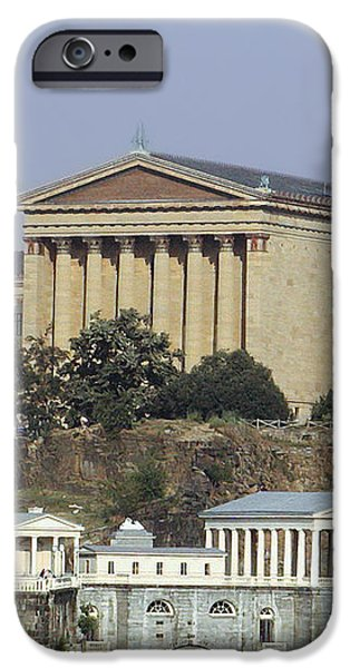 The Philly Art Museum and Waterworks iPhone Case by Bill Cannon