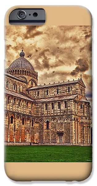The Duomo iPhone Cases - The Pisa Cathedral iPhone Case by Tom Prendergast
