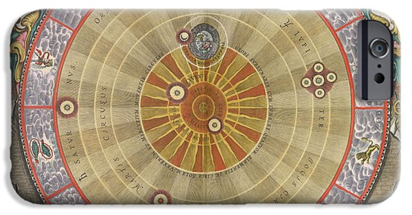 World System iPhone Cases - The Planisphere Of Copernicus Harmonia iPhone Case by Science Source