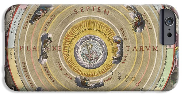 Cosmological iPhone Cases - The Planisphere Of Ptolemy, Harmonia iPhone Case by Science Source
