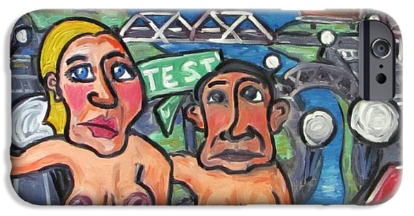 Prostitutes Paintings iPhone Cases - The Politician and The Paramour iPhone Case by Karl Haglund