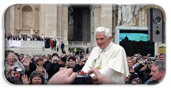 Pope iPhone Cases - The Pope iPhone Case by Munir Alawi