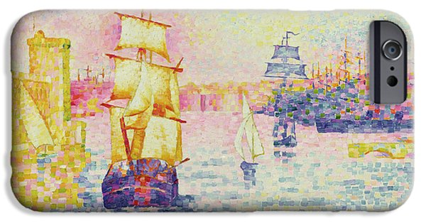 Navy iPhone Cases - The Port of Marseilles iPhone Case by Henri-Edmond Cross