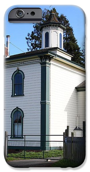 The Potter School House . Bodega Bay . Town of Bodega . California . 7D12472 iPhone Case by Wingsdomain Art and Photography