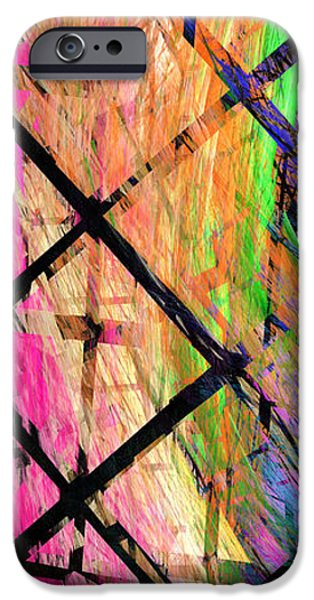 Abstract Digital Digital iPhone Cases - The Powers That Bind Us Panel iPhone Case by Andee Design