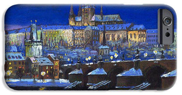 Pastels iPhone Cases - The Prague Panorama iPhone Case by Yuriy  Shevchuk
