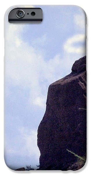 The Praying Monk with Halo - Camelback Mountain - Painted iPhone Case by James BO  Insogna