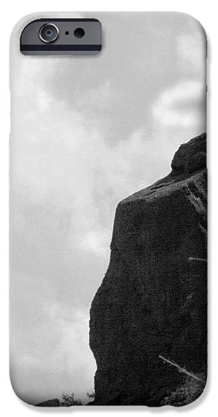 The Praying Monk with Halo - Camelback Mountain BW iPhone Case by James BO  Insogna