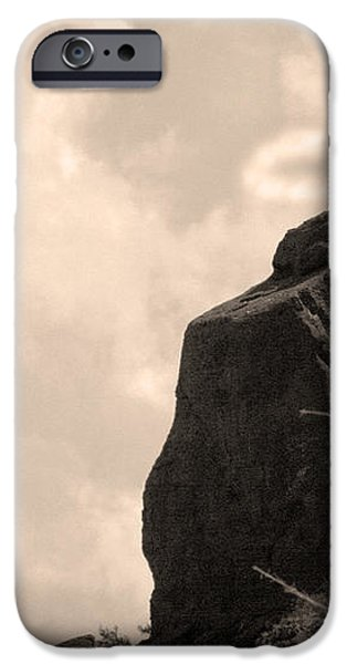 The Praying Monk with Halo - Camelback Mountain iPhone Case by James BO  Insogna