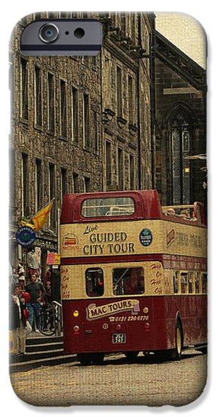 The Princes Street in Edinburgh. Scotland iPhone Case by Jenny Rainbow