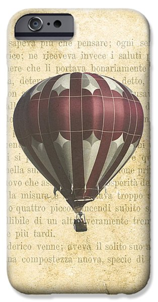 Hot Air Balloon iPhone Cases - The Printed Page 4 iPhone Case by Jan Bickerton