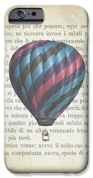 Hot Air Balloon iPhone Cases - The Printed Page 5 iPhone Case by Jan Bickerton