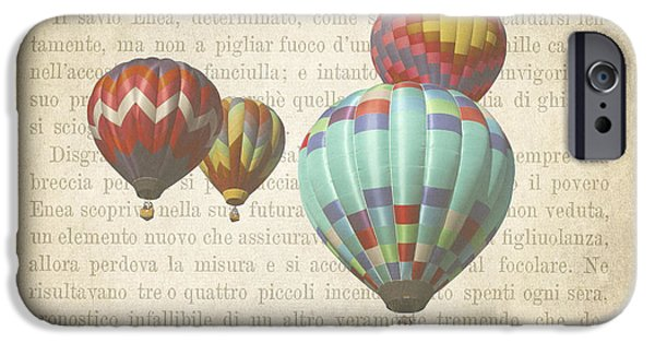 Hot Air Balloon iPhone Cases - The Printed Page 7 iPhone Case by Jan Bickerton
