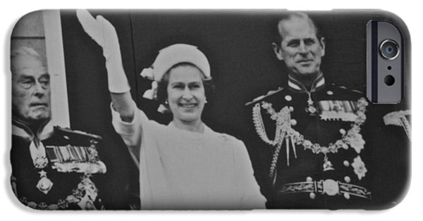 The Royal Family iPhone Cases - The Queen  iPhone Case by Eric Tressler