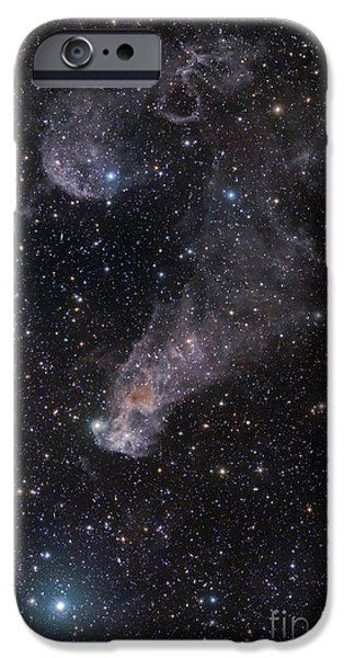 The Question Mark Nebula In Orion iPhone Case by John Davis