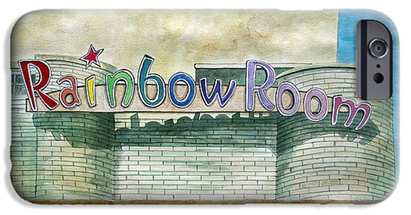 Park Scene Drawings iPhone Cases - The Rainbow Room iPhone Case by Patricia Arroyo