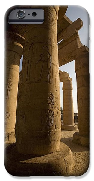 Historic Site iPhone Cases - The Ramesseum, Luxor, Egypt iPhone Case by Deddeda