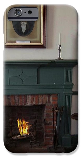 The Rankin Home Fireplace iPhone Case by Charles Robinson