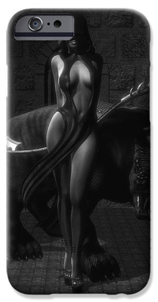 Female Body Digital Art iPhone Cases - The Reaper iPhone Case by Alexander Butler