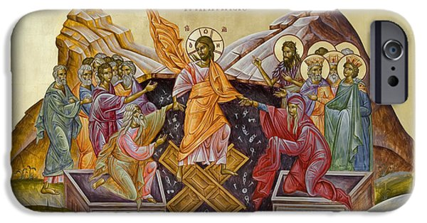 Julia Bridget Hayes iPhone Cases - The Resurrection of Christ iPhone Case by Julia Bridget Hayes