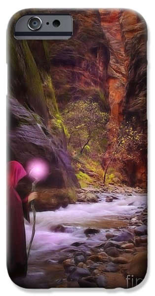 Painter Digital Art iPhone Cases - The Road Less Traveled iPhone Case by John Edwards