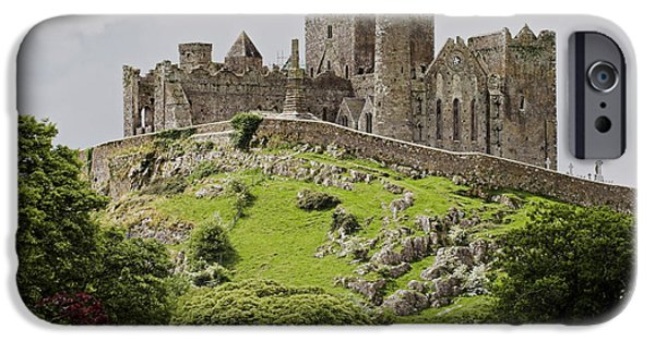 Ruins iPhone Cases - The Rock of Cashel Ireland in summer iPhone Case by Pierre Leclerc Photography