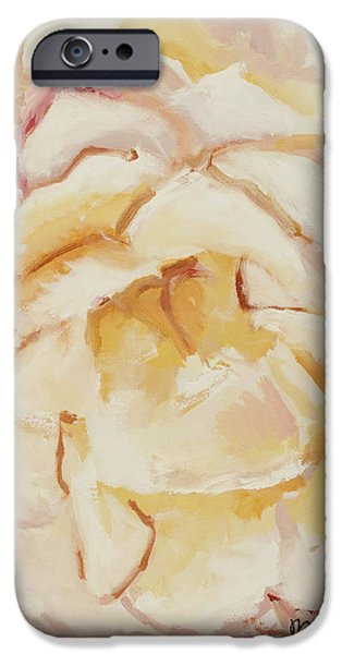 Nature Center Paintings iPhone Cases - The Rose iPhone Case by Katie OBrien - Printscapes
