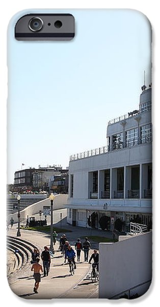 The Sala Burton Building . Maritime Museum . San Francisco California . 7D13993 iPhone Case by Wingsdomain Art and Photography